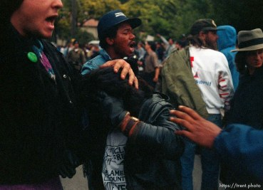 Girl who got hit by rock during riots and protests.