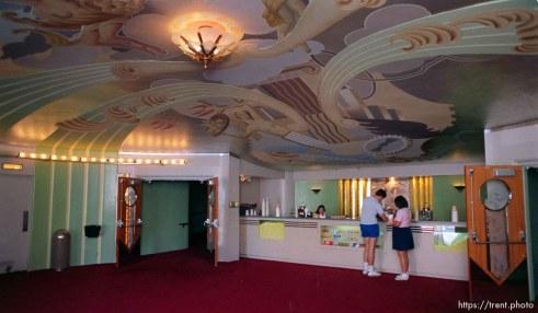 Interiors of Orinda Theater (the lobby)