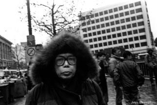 Man with furry hood