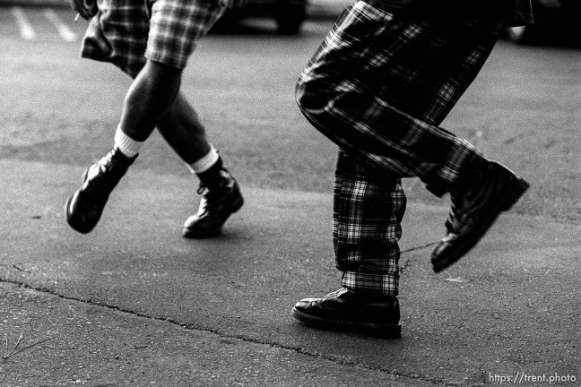 Kids feet as they dance for story on kids who hang out at Rheem Shopping Center