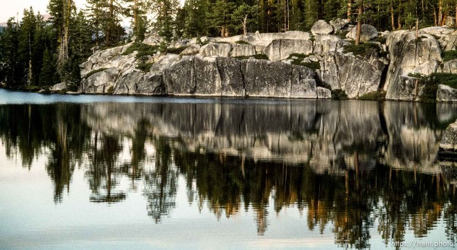 Rocks and reflections in Sword Lake