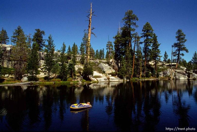 raft in Sword Lake