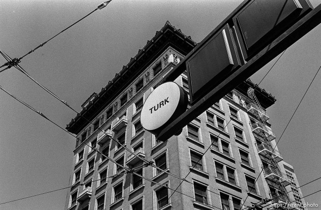 """""""Turk"""" street sign and building"""