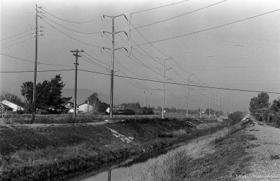 Powerlines and Creek. San Ramon project