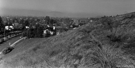 Homes seen from hill. San Ramon project