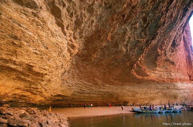 Redwall cavern. Grand Canyon flood trip.