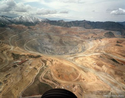 Bingham Copper Mine from the air.