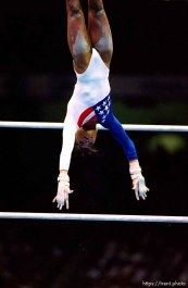US on bars at Womens Team Gymnastics at the 1996 Summer Olympic Games