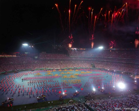 at the Opening Ceremony of the 1996 Summer Olympic Games