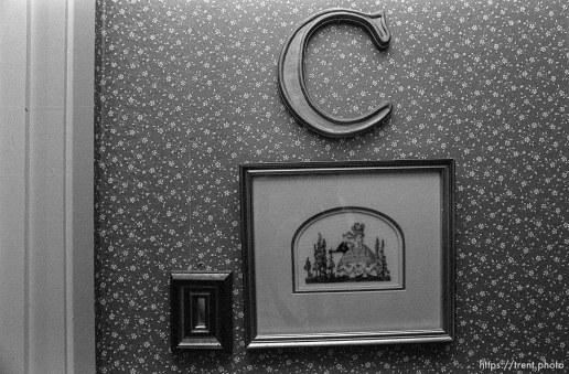 frames in Christina Nelson's room.