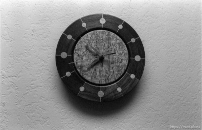Clock in the Nelson home.