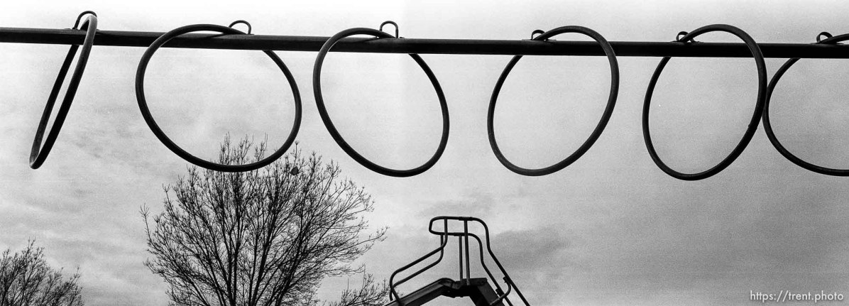Rings on playground at Walt Disney Elementary School.