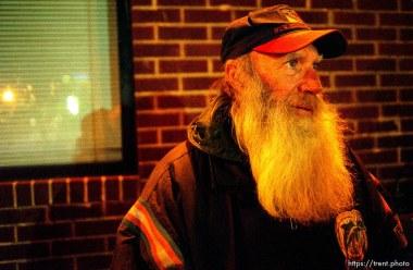 Wayne Broomhead, homeless in Salt Lake City.