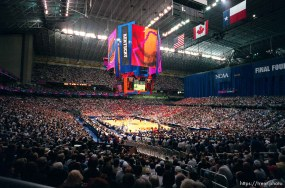 Overall view of the Alamodome at the Final Four.