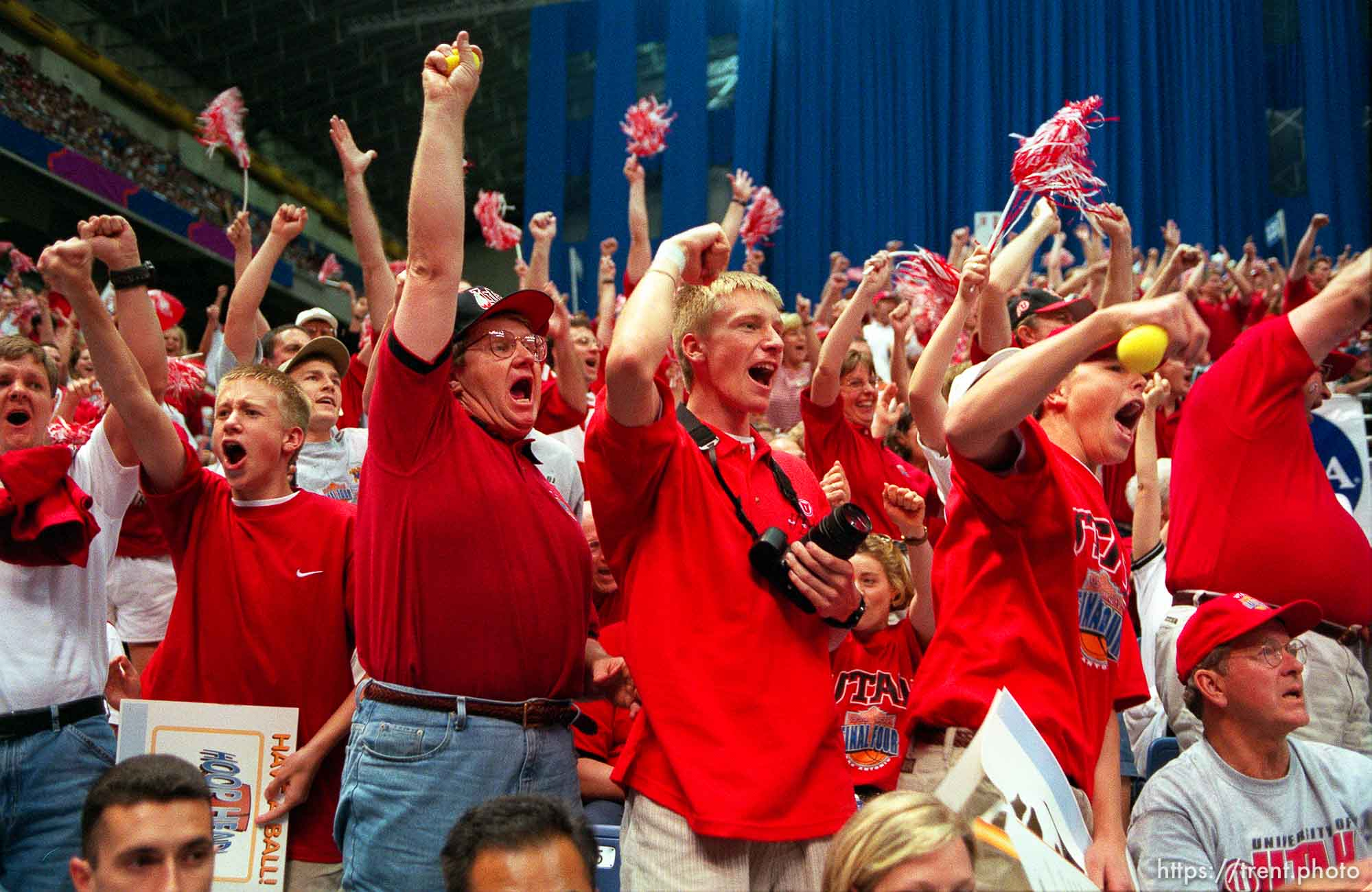 Utah fans at the Final Four.