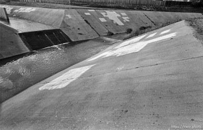 """Mountain Masters"" concrete waterway in creek."
