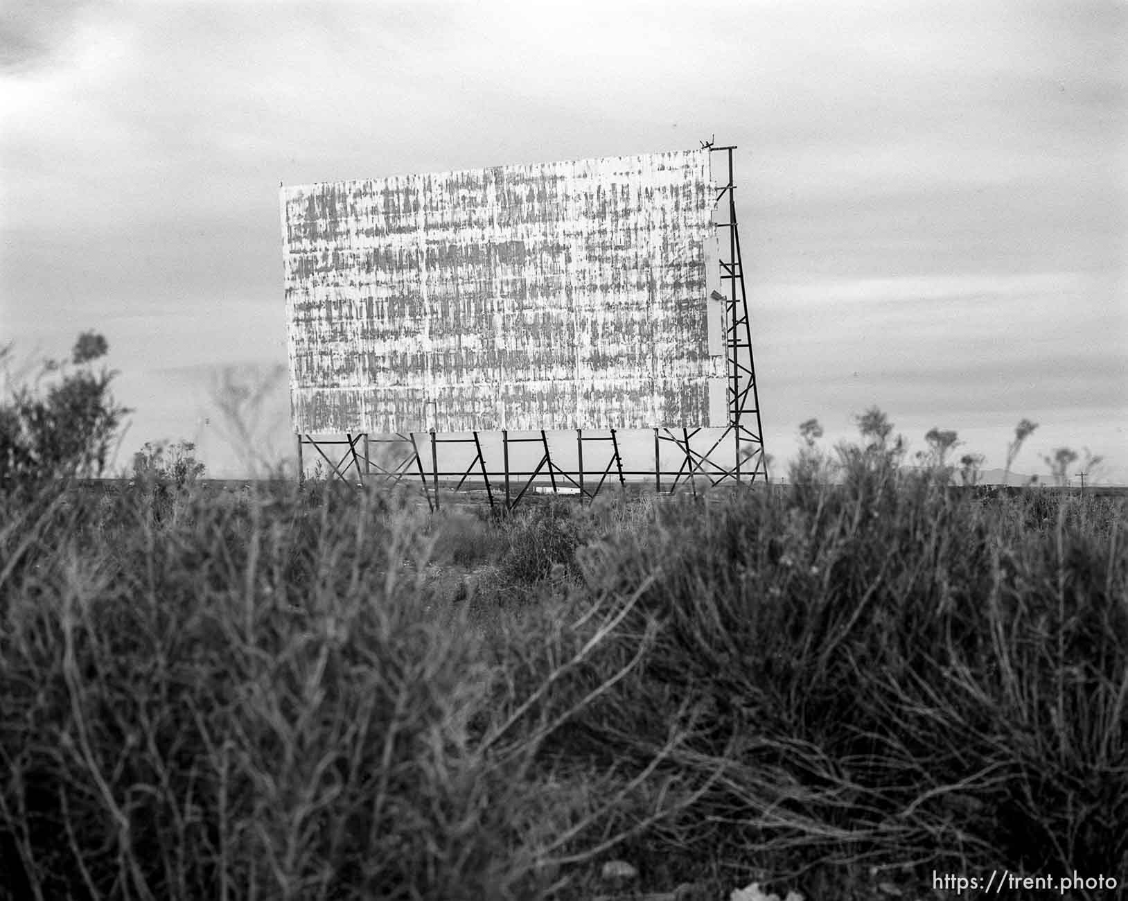 Old Drive-In Theater screen.