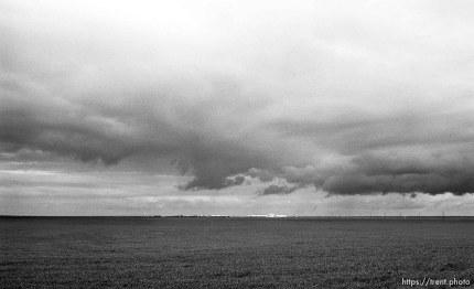 Deerfield Hutterite colony and huge sky.