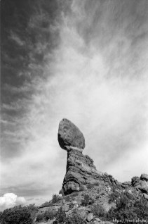 Balanced Rock at Arches National Park.