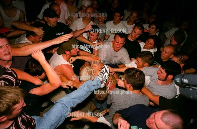 Fight breaks out during All Out War at DV8 Basement.