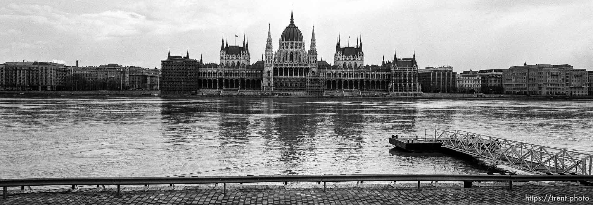 Parliament building across the river.