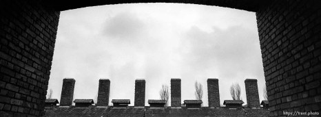 Kitchen chimneys at the Auschwitz Concentration Camp.