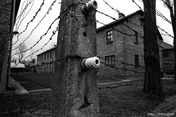 Electric fence at the Auschwitz Concentration Camp.