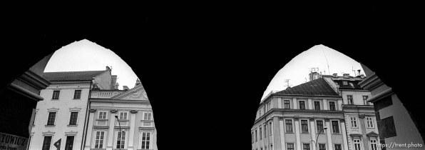 Buildings through the cloth hall.