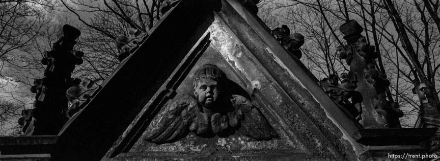 Cherub in old cemetery