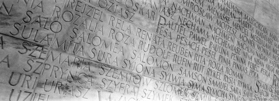 Names at Umschlag Platz series, the deportation center
