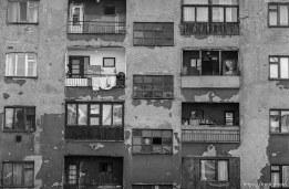 Shot up apartment building