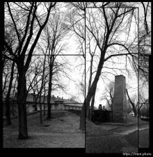 Crematorium at Auschwitz. Photo by Trent Nelson
