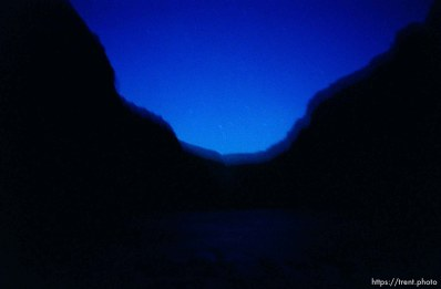 Nightfall in the canyon from Wild Mountain on a Native American river trip through Lodore Canyon and Dinosaur National Monument.