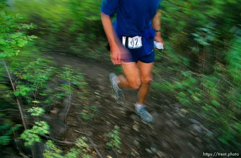 Peter Riley runs near the Alpine Loop aid station. Wasatch 100 Endurance Run.