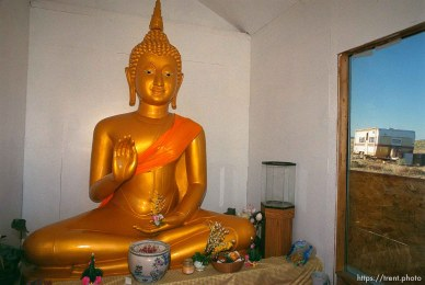 The largest Thai Buddha in the country sits in a shack on Eleanor and Malcolm Duvall's property near Park Valley in Box Elder County.