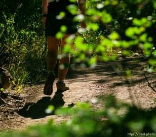 Runner near the Skyline Drive aid station. Wasatch 100 Endurance Run.