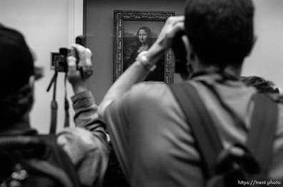 The Mona Lisa, at the Louvre