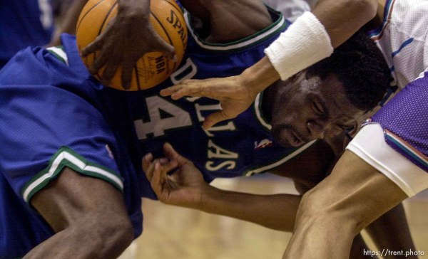 Michael Finley as the Utah Jazz face the Dallas Mavericks in game five of their first round playoff series, in Salt Lake City Thursday. 05/03/2001
