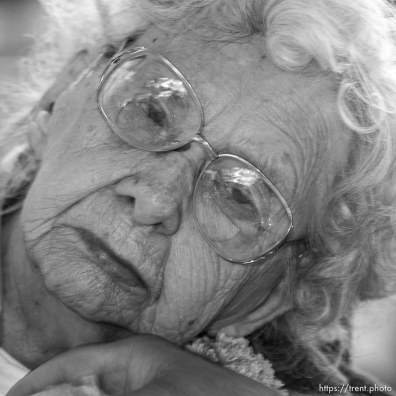 Olga Elvira Germain, 101, Ephraim. The 16th annual celebration of Utah's Centenarians at the Governor's Mansion. ; 05.29.2002, 9:46:05 AM