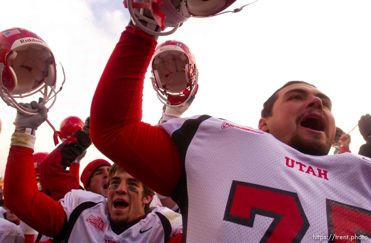 utes celebrate. Provo - Utah beats BYU 3-0. BYU vs. Utah football Saturday at LaVell Edwards Stadium.