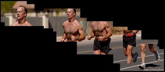 Runner in the Canyonlands Half Marathon in Moab