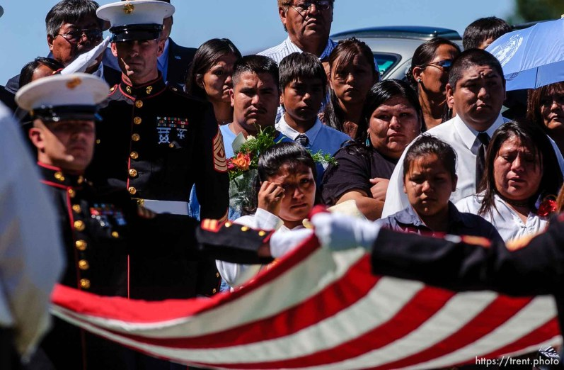 Funeral for Marine Quinn Keith, killed in Iraq, Blanding, Utah.