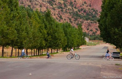 Children riding bikes, Colorado City