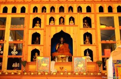 Lama Thupten and Jean Gardner at Salt Lake City's Urgyen Samten Ling Gonpa Tibetan Buddhist Temple.