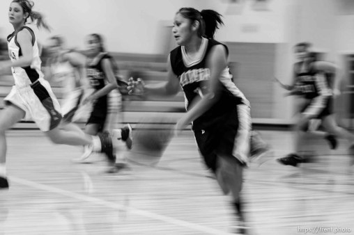 Whitehorse vs. Grand high school girls basketball. Whitehorse wins. 12.08.2005