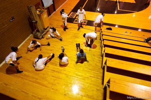 Whitehorse vs. San Juan girls high school basketball. San Juan wins, Whitehorse players sick. 12.20.2005