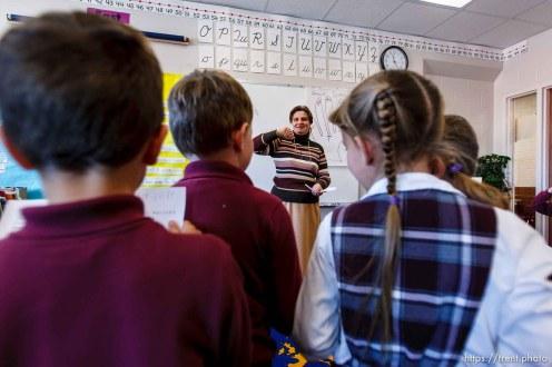 first graders singing, Masada Charter School