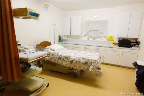 birthing clinic. Polygamist Winston Blackmore in Bountiful, British Columbia.