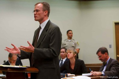 Washington County Attorney Brock Belnap. St. George - Preliminary hearing, Warren Jeffs trial, 5th District Court. 11.21.2006