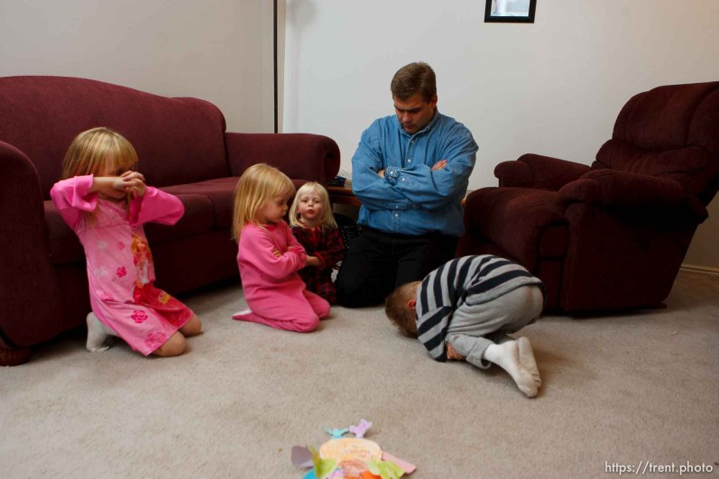 Family Prayer. Tooele - Joseph Lappi came back from serving in Iraq to find his wife pregnant with another man's child and himself the sole caretaker for his four children. Oldest to youngest: Joseph Lappi Jr, Daria Lappi , Lillian Lappi , and Sophie Lappi .